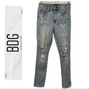 UO BDG Twig High Rise Distressed Jeans
